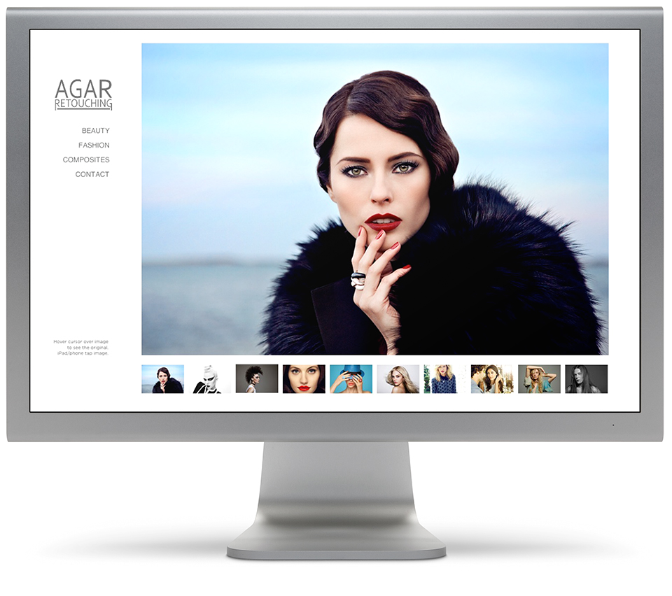 Website Design for Agar Retouching | Summer Kais Photo and Design Blog